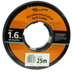 Cable doble aislado R-25 m. (1,6)