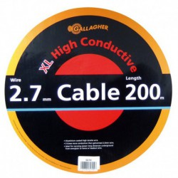 Cable doble aislado 200 m. 2,7 mm.