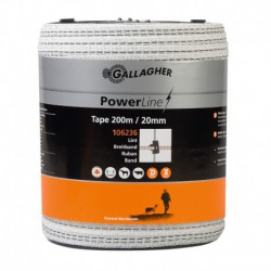 Cinta PowerLine blanca 20 mm 6 hilos
