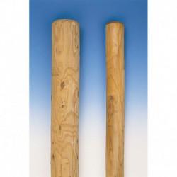 Poste de madera torneado de 2,5 m, 10 cm sin punta