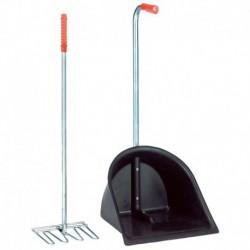 Cogedor y rastrillo de limpieza