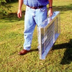 Jaula de captura plegable perros 130 x 52 x 61 cm