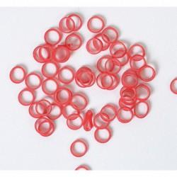 Elásticos rojos 5 mm (100 ud)