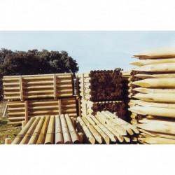Poste rústico de madera de 2,5 m, 8/10 cm