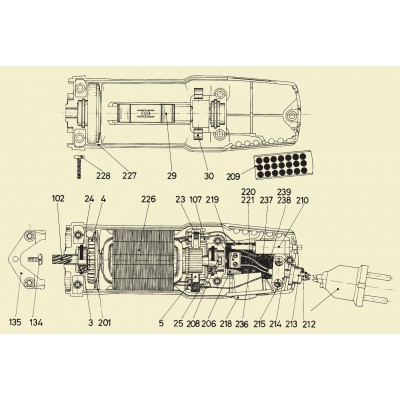 Despiece motor Super Profi, Power Clip, Super 3000