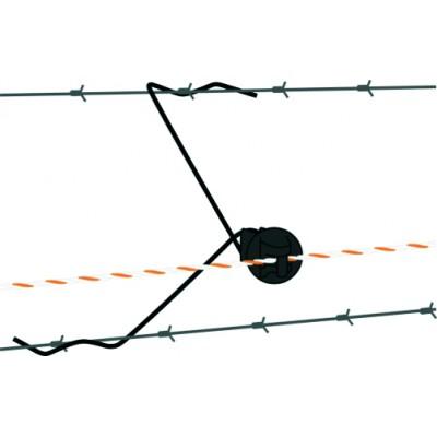 Aislador separador para cable y cordón