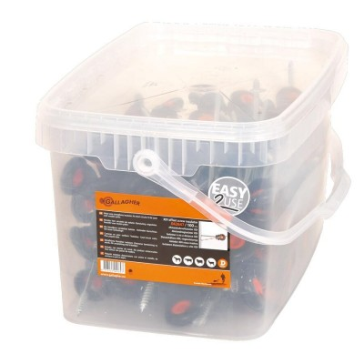 Aislador separador XDI rosca madera 10 cm.-cubo 100 ud.