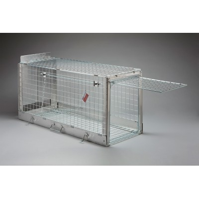 Jaula de captura plegable perros 131 x 54 x 61 cm