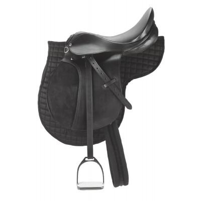 Silla inglesa de equitación poni con cabezal