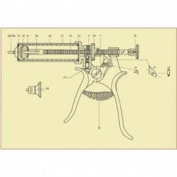 Tornillo diente jeringa Roux revólver 30-50 ml