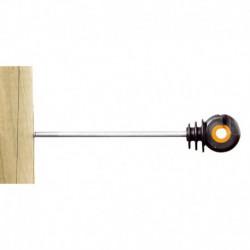 Aislador rosca madera de 18 cm XDI