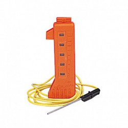 Medidor de corriente con luces de neón