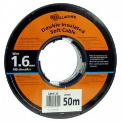 Cable doble aislado R-50 m. (1.6)